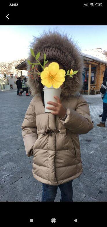 shapka-zara-dlja-devochki в Кыргызстан: Zara. Пух, съёмный мех, демисезонная. 1000 сом