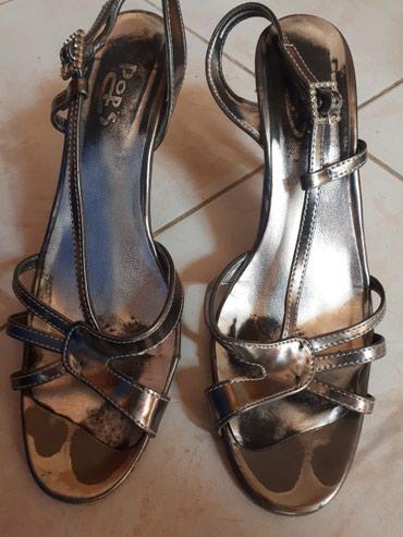 Odlicne sive sandale 39 br. nigde ostecene samo je gaziste malo - Jagodina