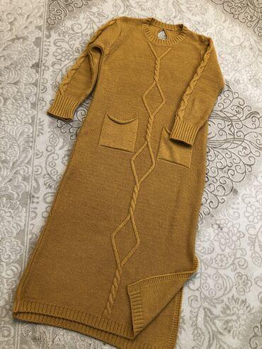 Теплое платье,Турция! подойдет беременным! Размер стандарт,отдам за