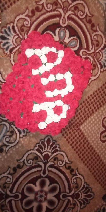 Цветы из бумаги с конфетами - Кыргызстан: На заказ цветы из гафро бумаги,фоамирана.От 350 и выше.Букет для