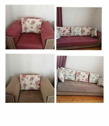 Satılır divan kreslo 1 ildir alınıb ela veziyetdedir tezeden secilmir