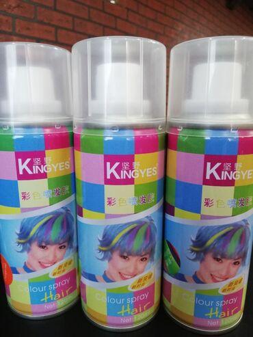 Краски для волос смывающаяся есть 14 цветов держится на долго