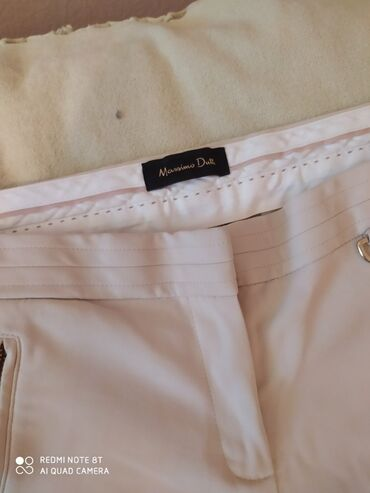 Massimo Dutti pantalone krem boje, br 42