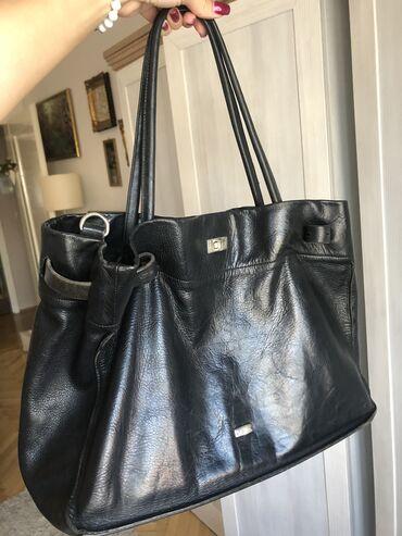 Manual torba - Srbija: MANUAL torba, PRAVA KOZA, KAO NOVA! Torba je malo nosena. Crne boje