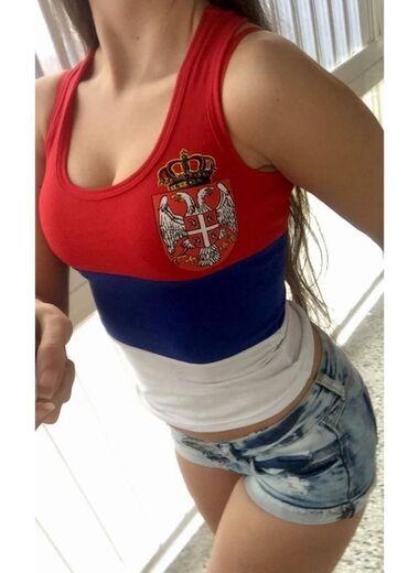 Ženske majice - Srbija: Srbija majice -AkCiJa- 2 kom = 900 din IZABERI svoju kombinaciju( Dve