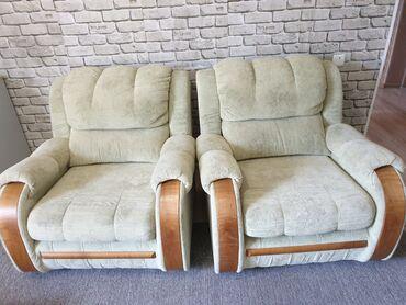 Диваны в Ак-Джол: Продаю мягкую мебель диван,двух местный диван,и два кресла,цвет