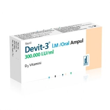 Витамин devit -3 в ампулах