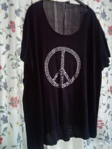 Košulje i bluze - Arandjelovac: Crna tunika baš velika pamuk viskoza za krupnije dame