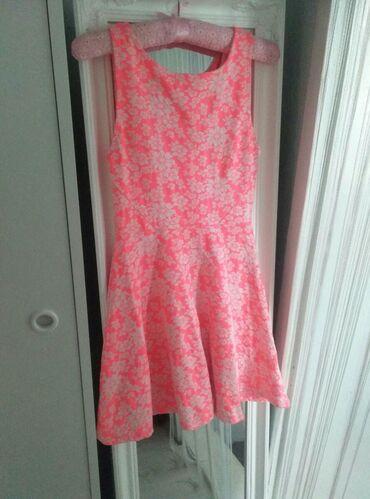 Haljine | Kikinda: H&M neon roze, cvetna haljina