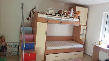 Nameštaj - Beograd: Decja soba,komplet namestena,sa 3 duseka. Soba je u perfektnom