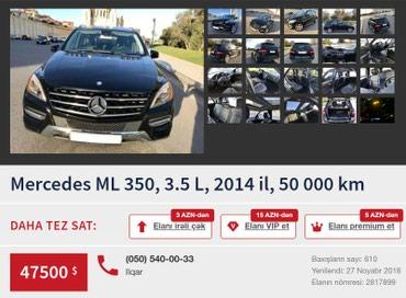 Bakı şəhərində Mercedes benz ML350 2014 il 50000 km.46000$ razilasmaq olar