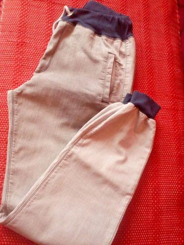 Decije pantalone od tankog teksasa, za decake, maslinasto sivkaste - Novi Pazar