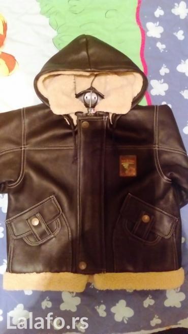 Dečija muška meklaud jaknica, eko koža, ima kapuljaču.. Za uzrast - Vrnjacka Banja