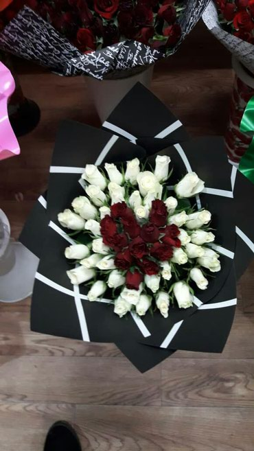 Розы 51шт  местная!!!Вместо тысячи слов в Бишкек