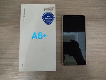 зарядное устройство для телефона samsung в Кыргызстан: Б/у Samsung Galaxy A8 Plus 2018 32 ГБ Золотой
