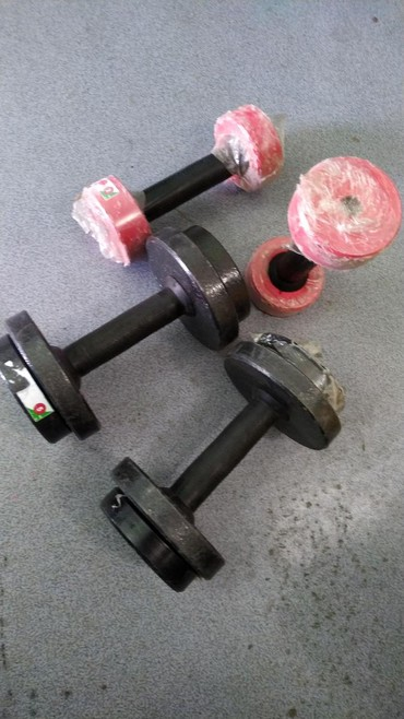 Разборные гантели 5х5 и 2х2 кг ГАНТЕЛИ в спортивном магазине