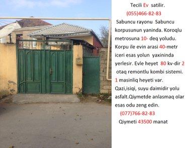 Bakı şəhərində Tecili Ev  sa