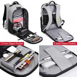 акриловые краски для ткани в Кыргызстан: Успей купить Городской рюкзак-антивор Kaka 806, с USB портом