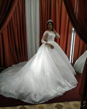 продажа инвалидных колясок в Кыргызстан: Свадебное платье продажа новое абсолютносо шлейфомбелое абсолютно