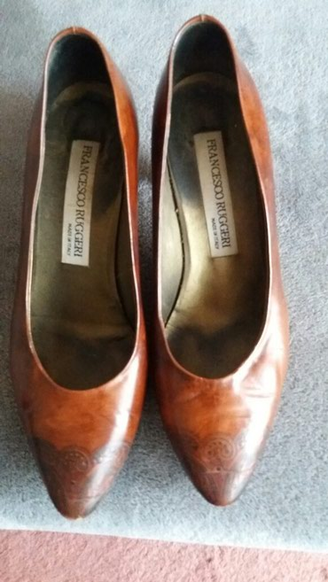 Italijanske cipele Francesko Ruggeri koza lice i djon. Broj 38 duzina - Paracin