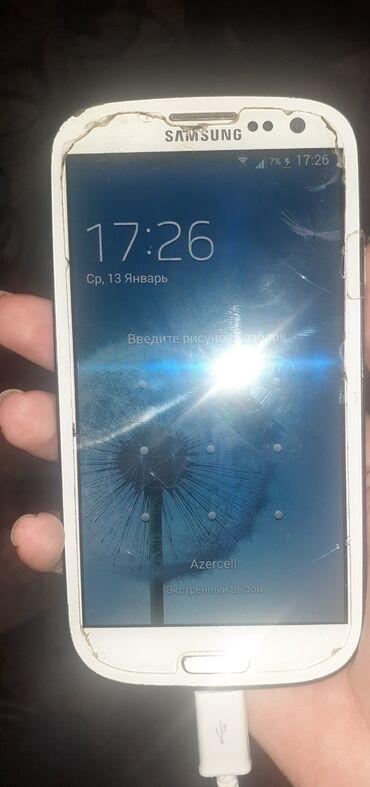 samsung s3 ekran - Azərbaycan: İşlənmiş Samsung I9300 Galaxy S3 32 GB ağ