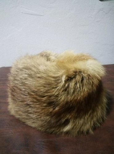 Subara bela lisica - Srbija: Subara od prirodnog krzna lisice. Bez ostecenja, precnik 20 cm