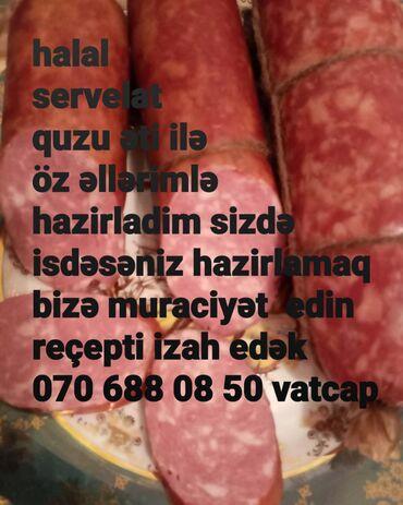 Biznes üçün avadanlıq - Azərbaycan: Evdə kolbasa hazirlamaq uçun məhsullar