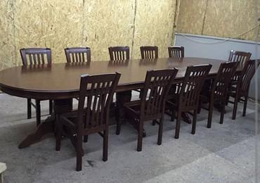 Элитные столы и стулья из карагача парной сушки на заказ!Столы и