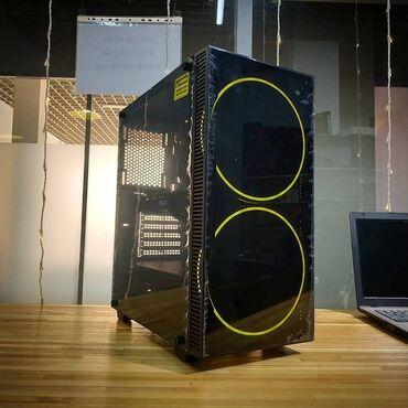 акустические системы aidu мощные в Кыргызстан: Мощный Игровой системник в красивом стеклянном корпусе Gamemax Black