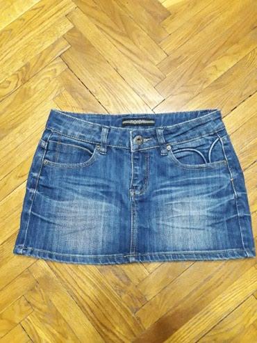 Teksas suknja, velicina 34-36. Suknjica je kao nova. Duzina 30cm. - Belgrade