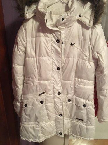 Zimska ženska jakna, bela, vatirana, jako topla. Kapuljaca se skida. - Belgrade