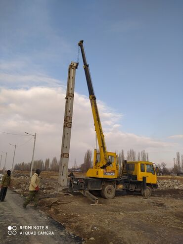 экскаватор бишкек услуги in Кыргызстан | АВТОВЫШКИ, КРАНЫ: Кран | Стрела 21 м. 5 т | Борт 5 кг
