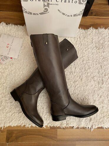 Gianni crasto cizme 36 broj, boja je siva Gaziste 22,5cm