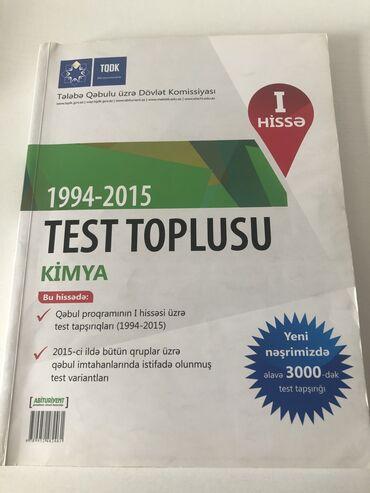 Kimya Test Toplusu içi təmiz ideal vəziyyətdədir Nəsimi metro