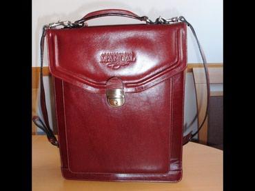 Poslovno elegantni komlet - Srbija: Manual kožna muška elegantna poslovna torba, ručna izrada, nova