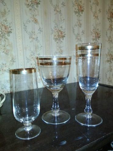 bakal desti - Azərbaycan: 6 caxir,6 sampan, 6 limaonad bakal desti,rasiysski,islenmeyib!