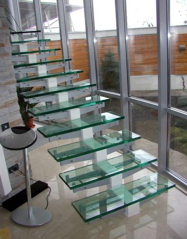 Стеклянные лестницы в доме это воздушно и надежно от 300$ в Кок-Ой