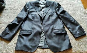 ведущий на свадьбу в Азербайджан: Мужской костюм, цвет мокрового асфальта, размер 50 - ый, состав 80 %