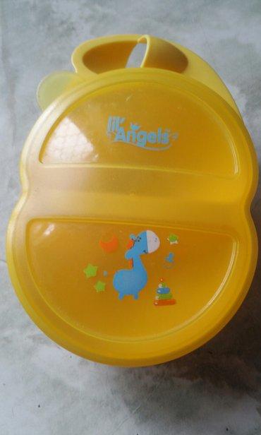 Посуда для малыша с двойным отсеком,б/у, состояние отличное. в Бишкек