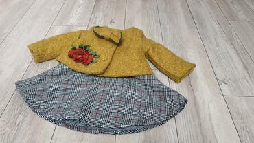 вязаные платья для полных в Кыргызстан: Костюм двойка на 1.5-3 года. Тёплый сарафан плюс пиджак-пальто
