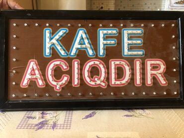 """jiquli yazisi - Azərbaycan: Restoran ve kafeler ucun """"Kafe aciqdir"""" yazisi"""