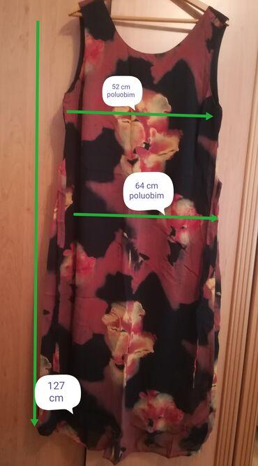 Haljine - Vranje: Prelepa braon haljina vel 48, kao nova, ima podstavu, pozadi ima