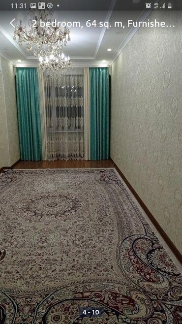 без хозяин квартира берилет in Кыргызстан   ДОЛГОСРОЧНАЯ АРЕНДА КВАРТИР: 2 комнаты, 64 кв. м, С мебелью частично