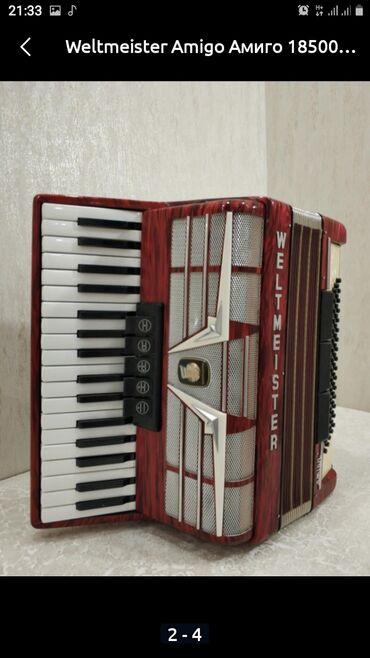 цена-аккордеона в Кыргызстан: Срочно продаю окардеон WELTNEISTER amigo хорошем состоянии цена 185