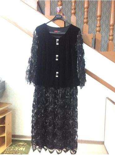 вечернее длинное платье черного цвета в Кыргызстан: Платье женское. Производство Турция размер 52, длина - ниже