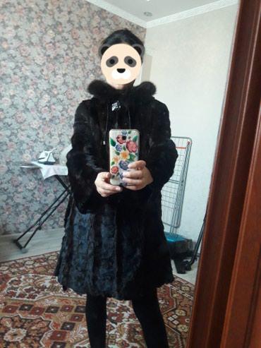Норковая шуба натуральная. длина до колен. 44 размер в Бишкек