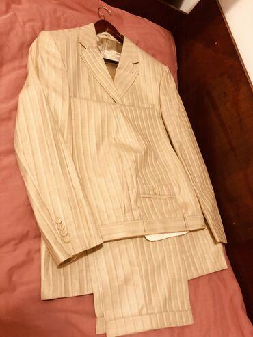 бренды мужской одежды в Кыргызстан: Мужской костюмL-XL бренд Uomo Lardini, 65 % чистой шерсти покупали