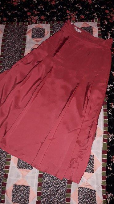 Suknja struka od - Srbija: Suknja od svile ružičasto crvene boje-HITVel piše 38može i 36Obim