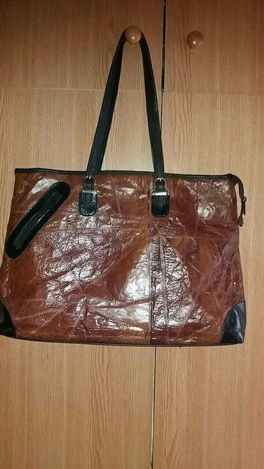 Kozna torba doneta iz italije,nosena samo par puta ,bez i jednog - Smederevska Palanka