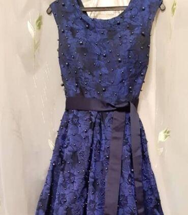 вечернее платье темно синего в Кыргызстан: Продается красивое вечернее платье темно-синего цвета.44-46 р. Цена 50